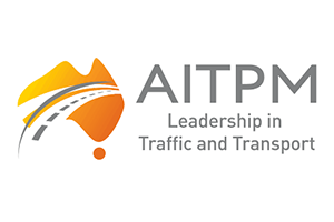 Image of the AITPM logo of which PDC are a member alongside other Transport Planning companies