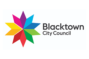 Image of the Blacktown Council logo who PDC completed a Transport Planning project for