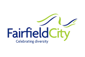 Image of the Fairfield Council logo who PDC completed a Transport Planning project for