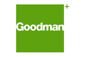 Image of the Goodman logo who PDC completed a Transport Planning project for