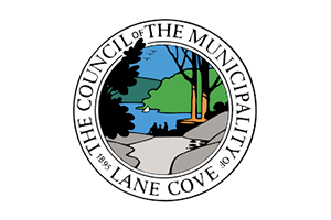 Image of the Lane Cove Council logo who PDC completed a Transport Planning project for
