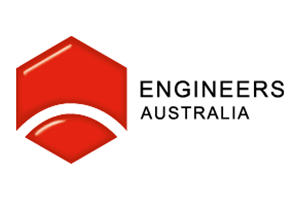 Image of the engineers australia logo of which PDC are a member alongside other Transport Planning companies