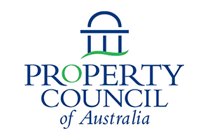 Image of the property council of australia logo of which PDC are a member alongside other Transport Planning companies